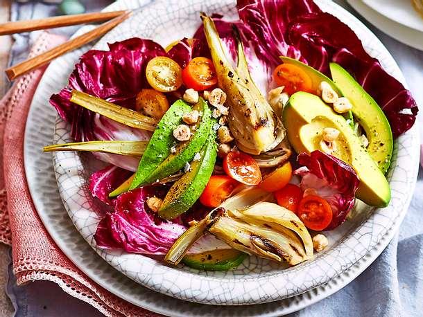 Last-minute-Salatteller mit Bratfenchel Rezept