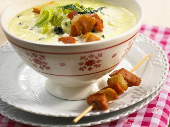 Lauchcreme-Suppe Rezept