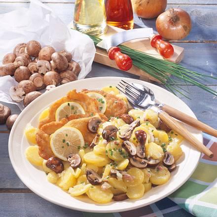 Lauwarmer Champignon-Kartoffelsalat Rezept