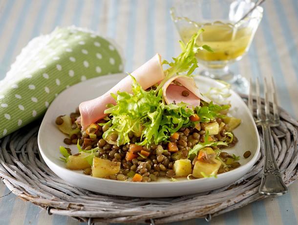 Lauwarmer Linsen-Röstkartoffel-Salat Rezept