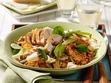 Lauwarmer Linsensalat mit Hähnchen Rezept