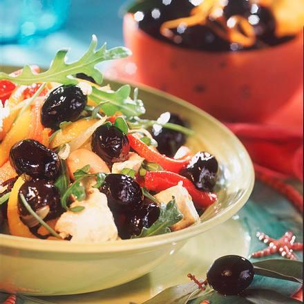 Lauwarmer Olivensalat Rezept