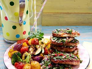 Lauwarmer Röstgemüse-Salat Rezept