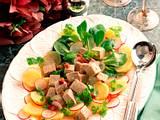 Lauwarmer Salat mit Kalbshaxe Rezept