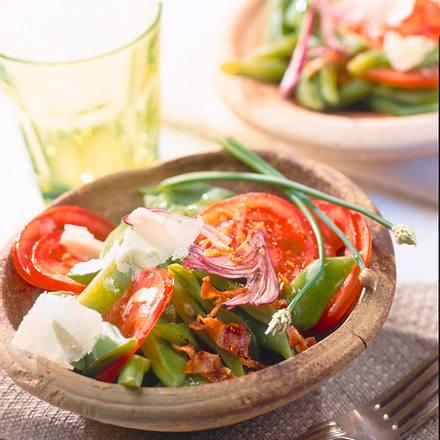 Lauwarmer Tomaten-Bohnen-Salat Rezept