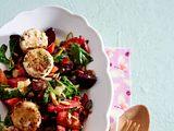 Lauwarmer Wintersalat mit gebratenem Ziegenkäse Rezept