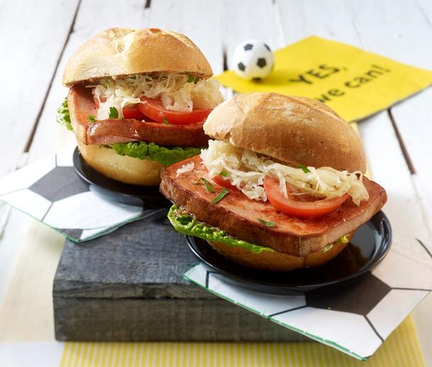 Leberkäse-Burger Rezept
