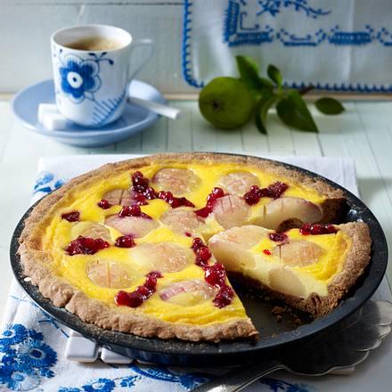 Lebkuchen-Birnen-Tarte Rezept