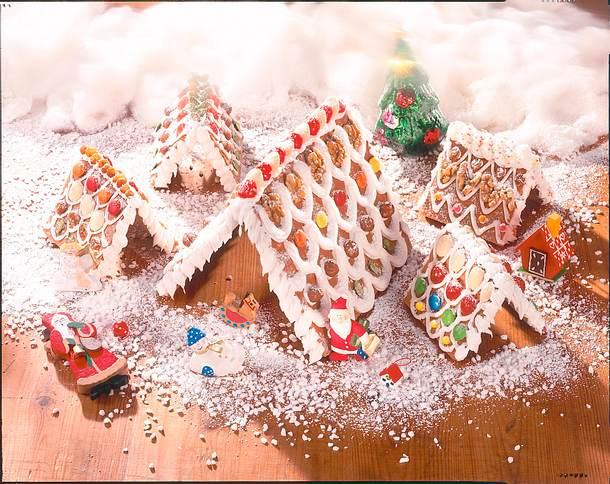 Lebkuchen-Dorf im Schnee Rezept