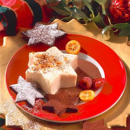 Lebkuchen-Mousse auf Schokosoße Rezept