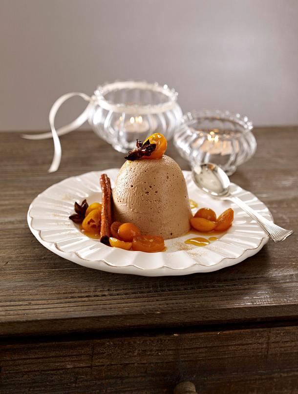 lebkuchen parfait auf orangenso e mit mariniereten. Black Bedroom Furniture Sets. Home Design Ideas