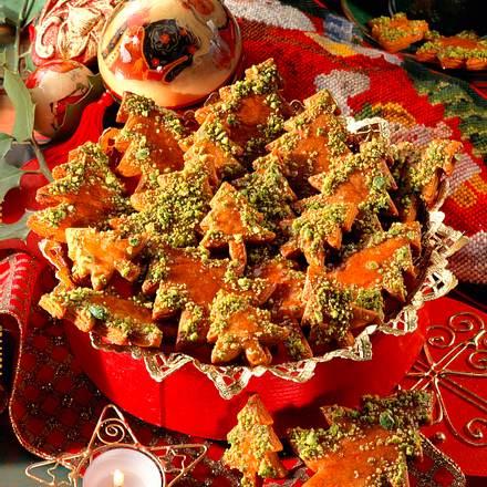 Lebkuchen-Tannenbäume Rezept