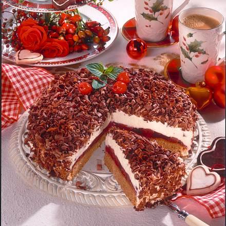 Lebkuchen Torte Mit Kirschen Rezept Lecker