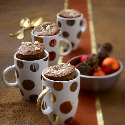 Lebkuchenmuffins mit karamellisierten Macadamianüssen Rezept