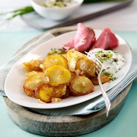 Leichte Bratkartoffeln zu Roastbeef und leichter Remoulade Rezept
