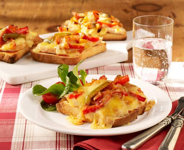 Leichte Paprika-Käse-Toasts Rezept