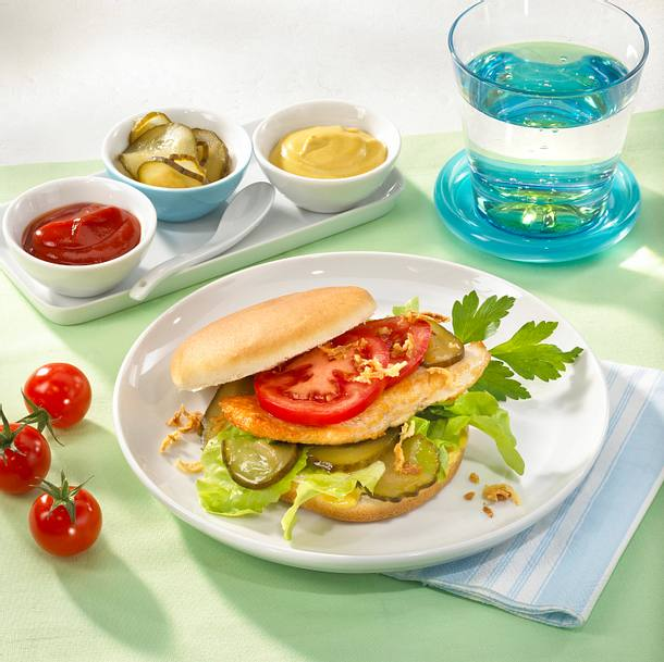 Leichter Chicken-Burger Rezept
