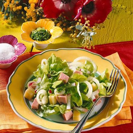 Leichter Käse-Wurst-Salat Rezept
