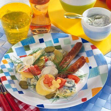 Leichter Kartoffelsalat mit Bratwurst Rezept