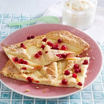 Leichter Ofen-Pfannkuchen mit Vanillecreme Rezept
