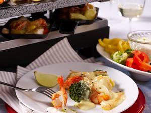 Leichtes Fisch-Raclette Rezept