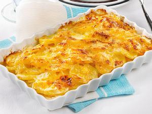 Leichtes Kartoffel-Gratin zu buntem Salat Rezept