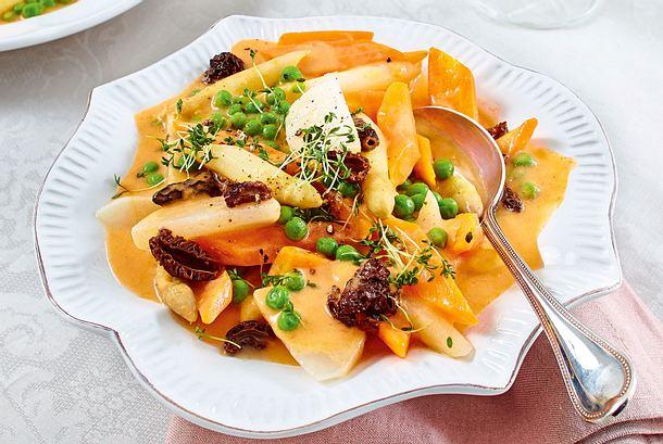 Leipziger Allerlei in Tomaten-Béchamel  Rezept