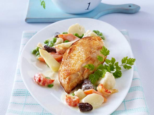 Leipziger Allerlei zu Hähnchenfilet und Butterkartoffeln Rezept