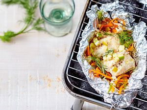 Lengfisch auf Gemüsejulienne Rezept