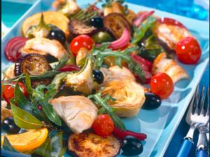 Lengfisch auf marinierten Gemüse Rezept