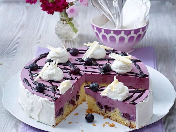 Lila Heidelbeer-Torte Rezept