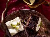 Lila Möhrenkuchen mit Anis und Soja-Topping Rezept