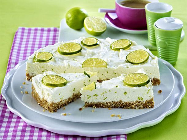 Kuchen ohne Backen – Cool Cakes! - limetten-cheesecake