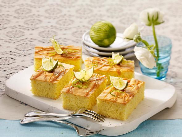 Limetten-Toffee-Kuchen vom Blech Rezept