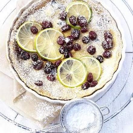 Limettentarte mit Cranberries Rezept