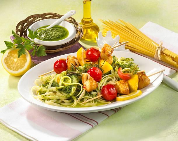 Linguine mit Bärlauch-Pesto Rezept
