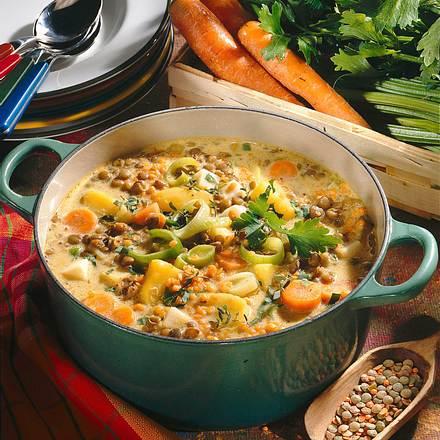 Linsen-Gemüse-Topf Rezept
