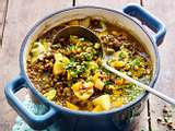 Linsen-Kartoffel-Curry-Suppe Rezept