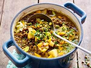 Linsen-Kartoffel-Curry-Suppe Rezept