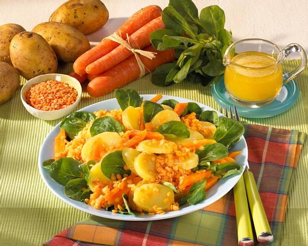 Linsen-Kartoffel-Salat Rezept