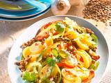 Linsen-Kartoffel-Salat mit Limetten-Chili-Vinaigrette Rezept