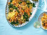 Linsen mit Spinat und Zitronenjoghurt Rezept