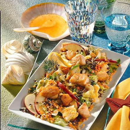 Linsen-Spitzkohl-Fisch-Salat Rezept
