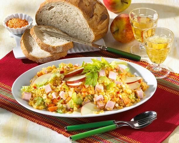 Linsen-Wurst-Salat Rezept