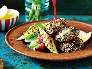 Linsenfrikadellen mit Zucchini-Minz-Salat Rezept