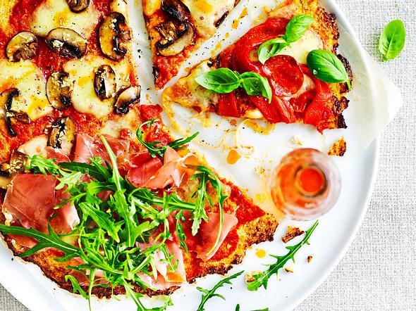Low-Carb-Pizza gegen Heißhungerattacken Rezept