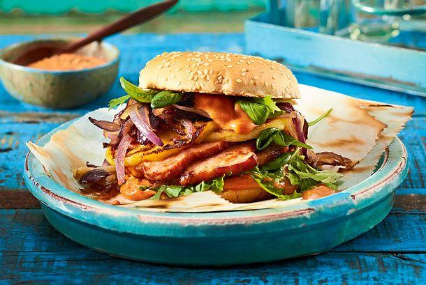 Lunchbox-Burger mit Kasseler Rezept