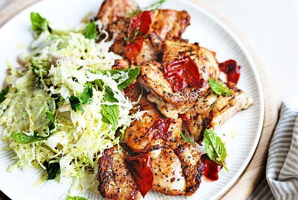 Lunchbox-Hähnchen mit Weißkohlsalat Rezept