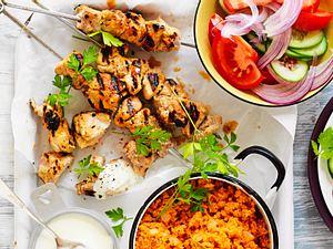 Lunchtime-Kebabs von der Pute Rezept