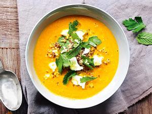 """Möhren-Quinoa-Suppe """"Sonnenschein"""" Rezept"""